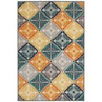 Oriental Weavers Hampton Tiles 3-Foot 3-Inch x 5-Foot Multicolor Area Rug