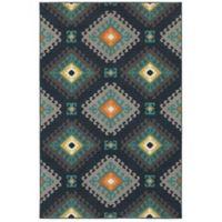 Oriental Weavers Hampton Geometric Diamond 3-Foot 3-Inch x 5-Foot Area Rug in Navy