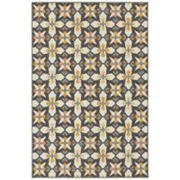 Oriental Weavers Hampton Mod Tiles 3-Foot 3-Inch x 5-Foot Area Rug in Grey