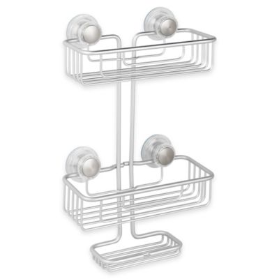 Beautiful Corner Shower Caddy Suction Interdesign Rustproof Aluminum In Silver To Decorating