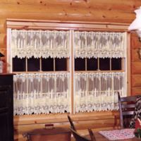 Pinecone Window Valance in Ecru