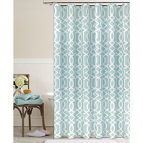 megan shower curtain in aqua bed bath beyond