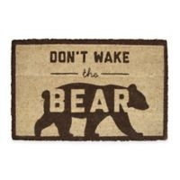 Don't Wake the Bear 18-Inch x 30-Inch Coir Door Mat