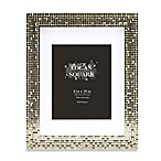 Logan 8-Inch x 10-Inch Tile Picture Frame with Mat in Champagne