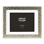 Logan 11-Inch x 14-Inch Tile Picture Frame with Mat in Champagne
