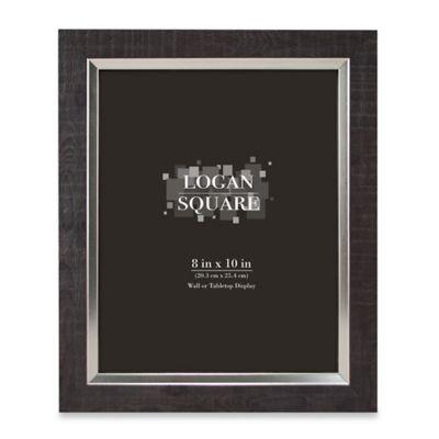 Logan 8 inch x 10 inch wood grain picture frame in espresso silver