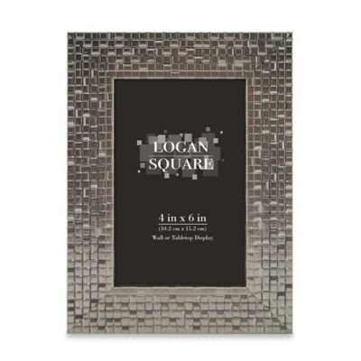 logan 4 inch x 6 inch tile picture frame in pewter