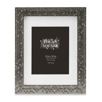 Logan 8-Inch x 10-Inch Tile Picture Frame with Mat in Pewter