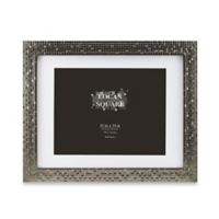 Logan 11-Inch x 14-Inch Tile Picture Frame with Mat in Pewter