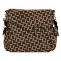 Kalencom® Ozz Messenger Bag in Brown Geometric Pattern