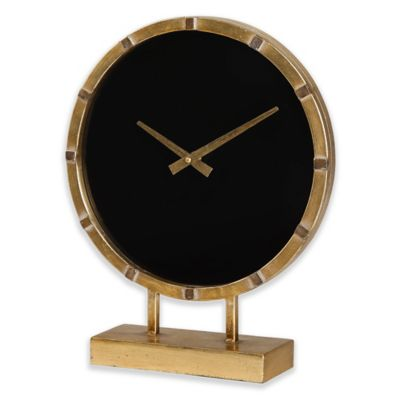 Uttermost Aldo Table Clock In Gold