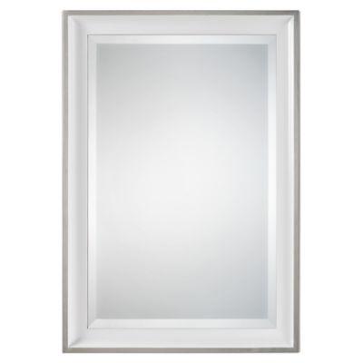 uttermost lahvahn wall mirror in gloss white - White Frame Mirror