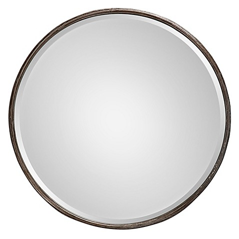 image of Uttermost 24-Inch Nova Large Mirror in Grey