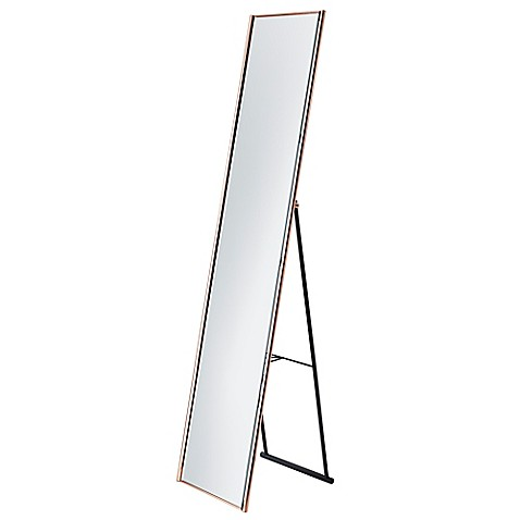 Adesso® 13.5-Inch x 59-Inch Alice Floor Mirror in Copper - Bed Bath ...
