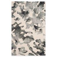 Safavieh Dip Dye Camo 4-Foot x 6-Foot Area Rug in Beige/Charcoal