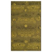 Safavieh Palazzo Olen 4-Foot x 6-Foot Area Rug in Black/Green