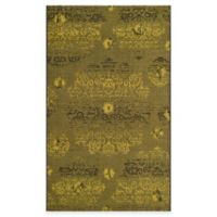 Safavieh Palazzo Olen 5-Foot x 8-Foot Area Rug in Black/Green