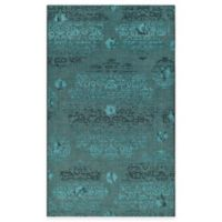 Safavieh Palazzo Olen 5-Foot x 8-Foot Area Rug in Black/Turquoise