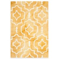 Safavieh Dip Dye Moroccan Trellis 2-Foot x 3-Foot Accent Rug in Gold/Ivory