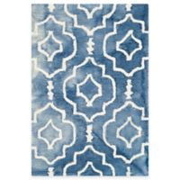 Safavieh Dip Dye Moroccan Trellis 2-Foot x 3-Foot Accent Rug in Blue/Ivory