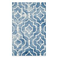 Safavieh Dip Dye Moroccan Trellis 2-Foot 6-Inch x 4-Foot Accent Rug in Blue/Ivory