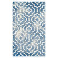 Safavieh Dip Dye Moroccan Trellis 3-Foot x 5-Foot Area Rug in Blue/Ivory