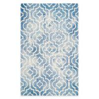 Safavieh Dip Dye Moroccan Trellis 5-Foot x 8-Foot Area Rug in Blue/Ivory