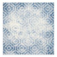 Safavieh Dip Dye Moroccan Trellis 7-Foot Square Area Rug in Blue/Ivory