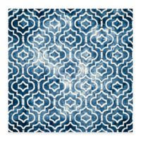 Safavieh Dip Dye Moroccan Trellis 7-Foot Square Area Rug in Navy/Ivory