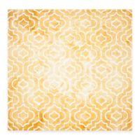 Safavieh Dip Dye Moroccan Trellis 7-Foot x 7-Foot Area Rug in Gold/Ivory