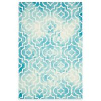Safavieh Dip Dye Moroccan Trellis 8-Foot x 10-Foot Area Rug in Turquoise