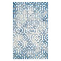 Safavieh Dip Dye Moroccan Trellis 8-Foot x 10-Foot Area Rug in Blue/Ivory