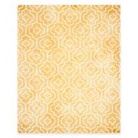 Safavieh Dip Dye Moroccan Trellis 9-Foot x 12-Foot Area Rug in Gold/Ivory