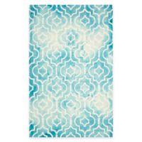 Safavieh Dip Dye Moroccan Trellis 9-Foot x 12-Foot Area Rug in Turquoise