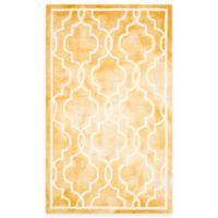 Safavieh Dip Dye Link Trellis 2-Foot x 3-Foot Accent Rug in Gold/ivory