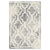 Safavieh Dip Dye Link Trellis 2-Foot x 3-Foot Accent Rug in Grey/Ivory