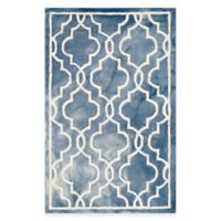 Safavieh Dip Dye Link Trellis 2-Foot 6-Inch x 4-Foot Runner in Blue/Ivory