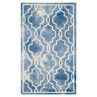 Safavieh Dip Dye Link Trellis 3-Foot x 5-Foot Area Rug in Blue/Ivory