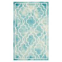 Safavieh Dip Dye Link Trellis 3-Foot x 5-Foot Area Rug in in Turquoise/Ivory
