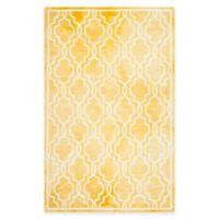 Safavieh Dip Dye Link Trellis 4-Foot x 6-Foot Area Rug in Gold/Ivory
