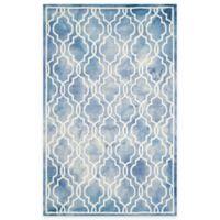 Safavieh Dip Dye Link Trellis 4-Foot x 6-Foot Area Rug in Blue/Ivory