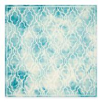 Safavieh Dip Dye Link Trellis 7-Foot Square Area Rug in Turquoise/Ivory