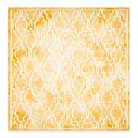 Safavieh Dip Dye Link Trellis 7-Foot Square Area Rug in Gold/Ivory
