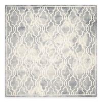 Safavieh Dip Dye Link Trellis 7-Foot Square Area Rug in Grey/Ivory