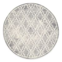 Safavieh Dip Dye Link Trellis 7-Foot Round Area Rug in Grey/Ivory