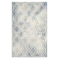 Safavieh Dip Dye Link Trellis 6-Foot x 9-Foot Area Rug in Grey/Ivory