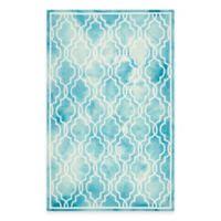 Safavieh Dip Dye Link Trellis 6-Foot x 9-Foot Area Rug in Turquoise/Ivory