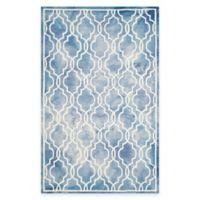 Safavieh Dip Dye Link Trellis 6-Foot x 9-Foot Area Rug in Blue/Ivory