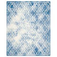 Safavieh Dip Dye Link Trellis 8-Foot x 10-Foot Area Rug in Blue/Ivory