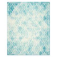 Safavieh Dip Dye Link Trellis 8-Foot x 10-Foot Area Rug in Turquoise/Ivory